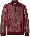 Calvin Klein Jeans Men's Cross Dye French Terry Crew Neck Sweatshirt, Deep Oxblood, Large