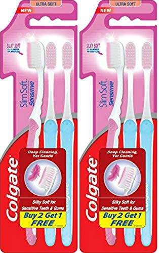 Colgate SlimSoft Compact Ultra Soft Bristles Toothbrush 5pcs