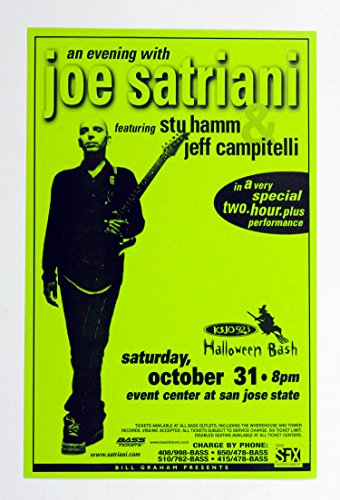 Joe Satrinani Poster 1998 Oct 31 Halloween Bash San Jose -