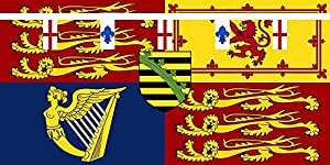 magFlags Large Flag Royal Standard of Prince Arthur of Connaught | landscape flag | 1.35m² | 14.5sqft | 80x160cm | 30x60inch - 100% Made in Germany - long lasting outdoor flag