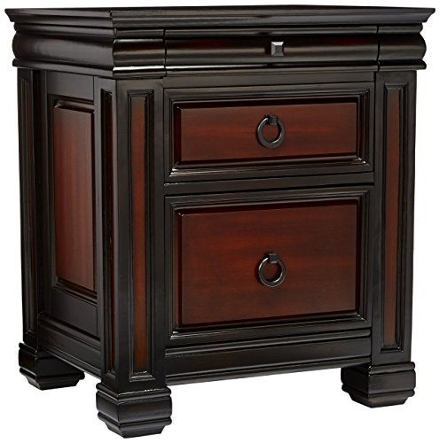 - Coaster Home Furnishings 800694 Traditional File Cabinet, Black and Cherry