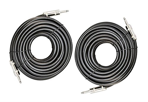 "2X 1/4"" TO 1/4"" 50 FT. TRUE 12 GAUGE WIRE AWG DJ/ PRO AUDIO SPEAKER CABLE from Unknown"
