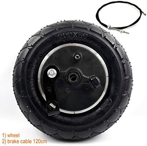 ドラムブレーキ付き8インチホイール8インチ膨張ブレーキ付きエアホイール電動スクーターブレーキアルミホイール200×50ホイールブレーキ (wheel+cable120)