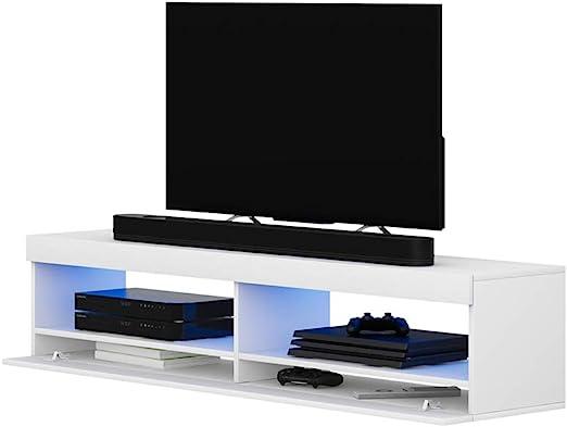 Selsey Mueble para Televisor Blanco Mate 100 x 40 x 40 cm: Amazon.es: Hogar