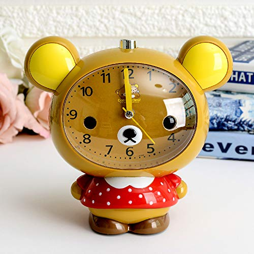 Cute Cartoon Alarm Clock Creative Personality Alarm Clock Champagne Champagne Bear ()