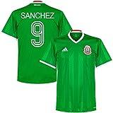 Mexico Home Sanchez Jersey 2016 / 2017 (Retro Style Printing) - M