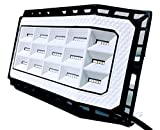 New Design 50 Watts (5000 lumens) Super Bright Outdoor LED Flood Light/Wider 180+ Degree of Lighting. IP66 Grade Waterproof. Great for Backyard, aisles, Fields and garages (White)