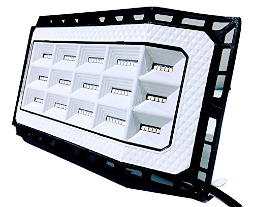 New Design 50 Watts (5000 lumens) Super Bright Outdoor LED Flood Light/Wider 180+ Degree of Lighting. IP66 Grade Waterproof. Great for Backyard, aisles, Fields and garages (White) by RedLED