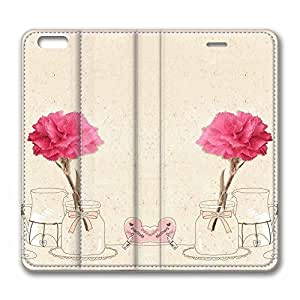 CYBER MONDAY - NEW DESIGN LEATHER - iPhone 6 Plus Leather - Interestingly Safflower iPhone 6 Plus 5.5 inch Case