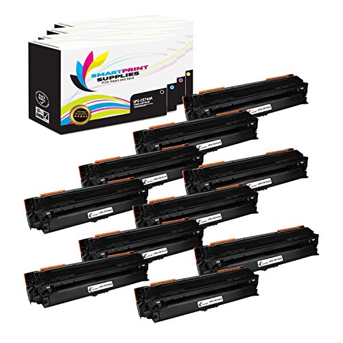 Smart Print Supplies Compatible 307A Toner Cartridge Replacement for HP Laserjet CP5225DN CP5225N Printers (CE740A Black, CE741A Cyan, CE742A Magenta, CE743A Yellow) - 10 Pack