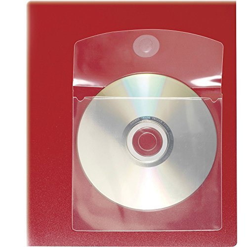 Cardinal HOLDit! CD/DVD Disk Pocket - For Presentation - 1 CD/DVD Capacity - 5amp;quot; x 5amp;quot; - Vinyl - 10 / Bag - Clear by Cardinal