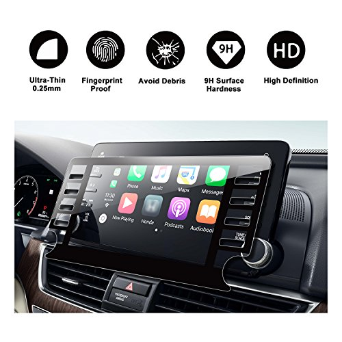 2018 Honda Accord Sport EX EX-L Touring EX-L Navi Navigation Screen Protector,HD Clear TEMPERED GLASS Screen Scratch-Resistant Ultra HD Extreme Clarity (2018 8In)