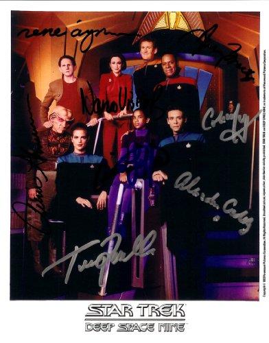 Star Trek Deep Space 9 Cast Signed Autographed 8 X 10 Reprint Photo - (Mint Condition) from Nostalgic Cards & Autographs