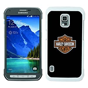Fashionable Samsung Galaxy S5 Active Case ,Unique Designed With Harley Davidson white Samsung Galaxy S5 Active Cover High Quality Phone Case