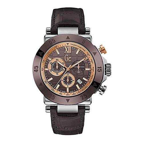 Guess X90019G4S Men's Sport Chic GC-1 Brown Strap Chrono Watch