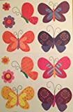 Whimsical Butterfly Window Clings ~ 12 Butterfly Clings on 2 Sheets (2-2)