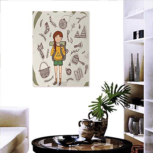 Pegatinas de arte con dibujo de conejo de mano en un avión monocromo con cita de un pequeño explorador para decoración de...
