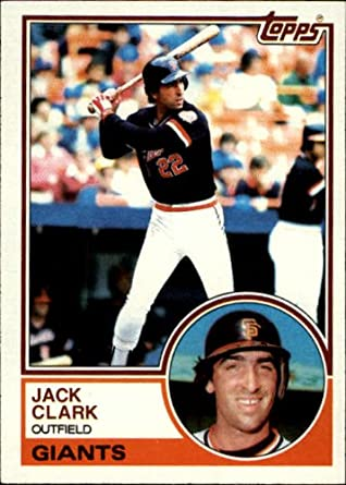 Amazoncom 1983 Topps Baseball Card 210 Jack Clark Mint