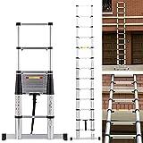 12.5ft EN131 13 Step Profession Telescoping Extension Ladder Aluminum Telescopic Multi Purpose ladder