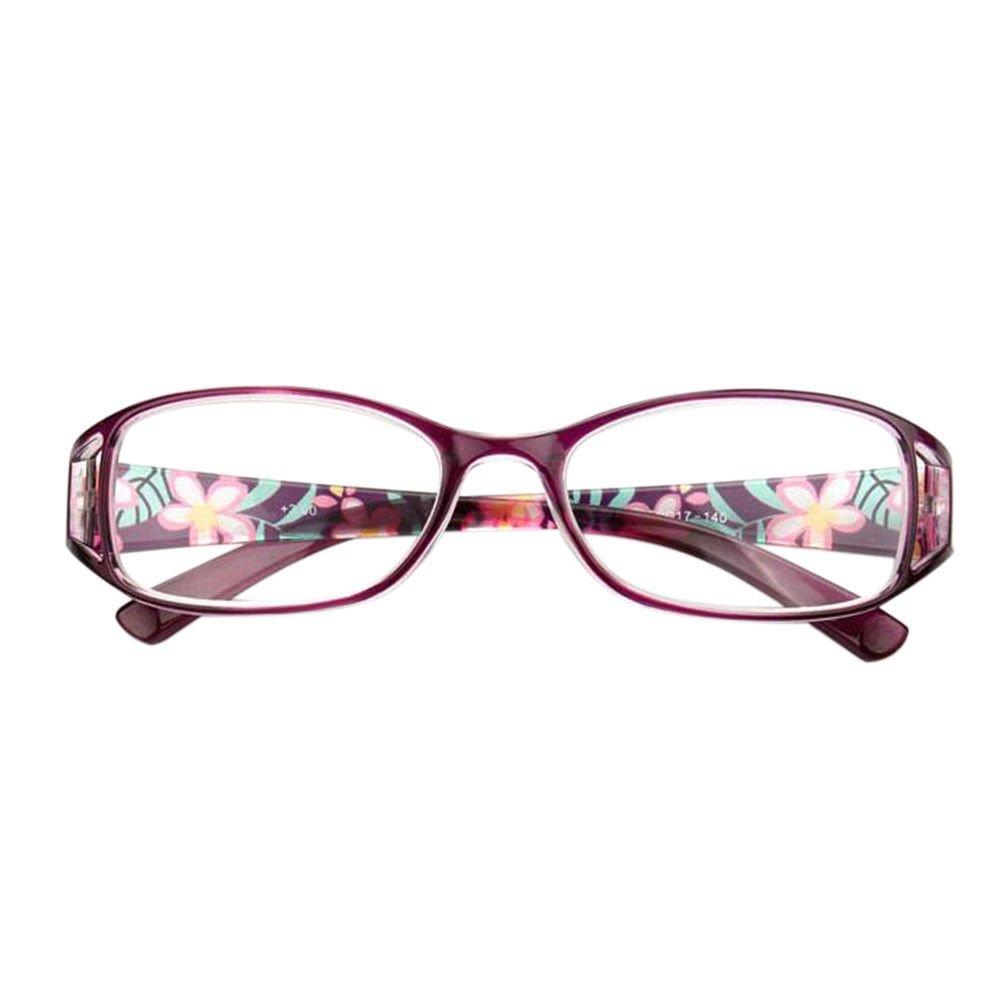 4.00 Hzjundasi Dames de mode portent des lunettes de p/âtes Lunettes de lecture anti-fatigue Force optionnelle 1.00 /à