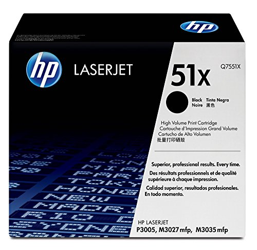 HP 51X | Q7551X | Toner Cartridge | Black | High Yield (Toner For Hp Laserjet P3005)