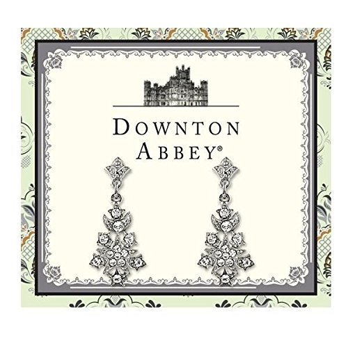 Downton Abbey Stardust Carded Silver-Tone Belle Epock Starburst Pave Crystal Accents Drop Earrings by Downton Abbey