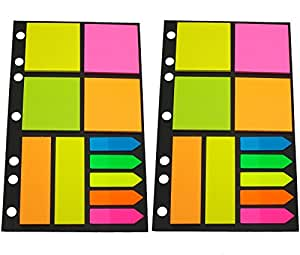Sticky Notes Assorted Shapes 25 Per Pad x 11 (Pack of 2) Arrows, Squares and Long Rectangles