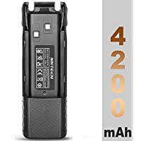 NKTECH BL-8 7.4V 4200mAh Extended Li-ion Battery For BaoFeng UV-82 UV-82HP UV-8D UV-82L UV-82X UV82C Two Way Radio Walkie Talkie Transceiver Batteries Accessories Warranty