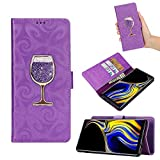 Jennyfly Galaxy Note 9 Wallet Cover 2018,6.4 inch PU Leather Wallet Case Kickstand Card Holder ID Slot Magnetic Close Protection Case Samsung Galaxy Note 9-Purple