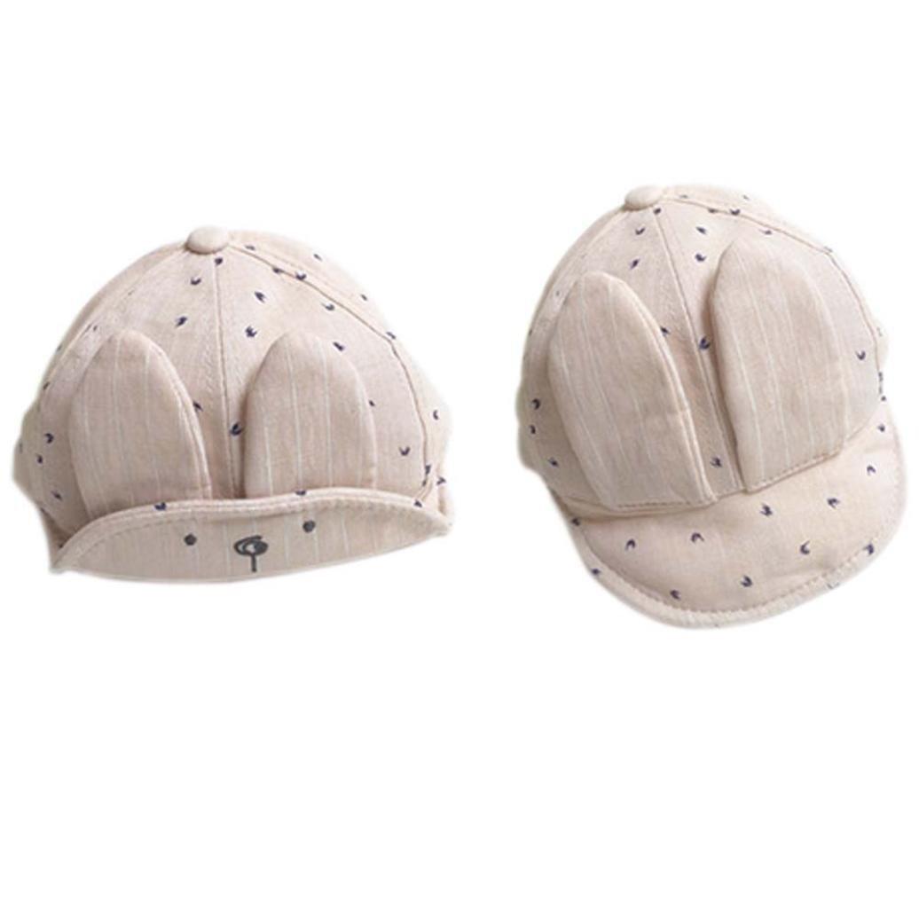 赤ちゃんベレー帽、misakyコットンキャップ野球Peakedウサギ形状Sun Hat  ベージュ B01LNZEKNI