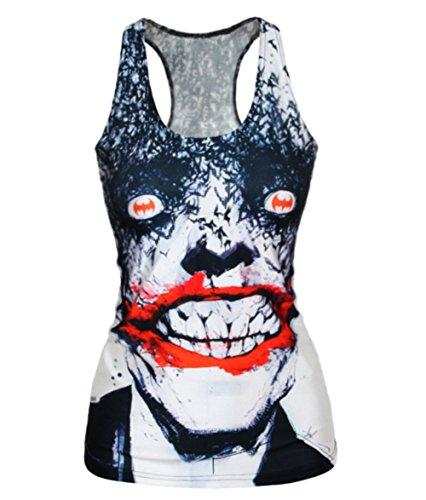 Amoluv Hot Fashion Women The Vampire Printed Sleeveless T Shirt Vest Tank (Hot Vampire Woman)