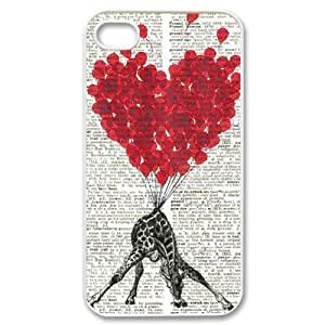 Giraffe Unique Fashion Printing Phone Case for Iphone 4,4S,personalized cover case ygtg561188