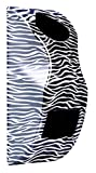 zebra hair dryer - Hair dryer/hair straightener holder (Black & White Zebra Print)