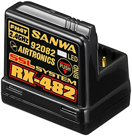 Sanwa Snw107A41259A 4-Channel Rx-482 Telemetry Rx W/ Built-In Antenna