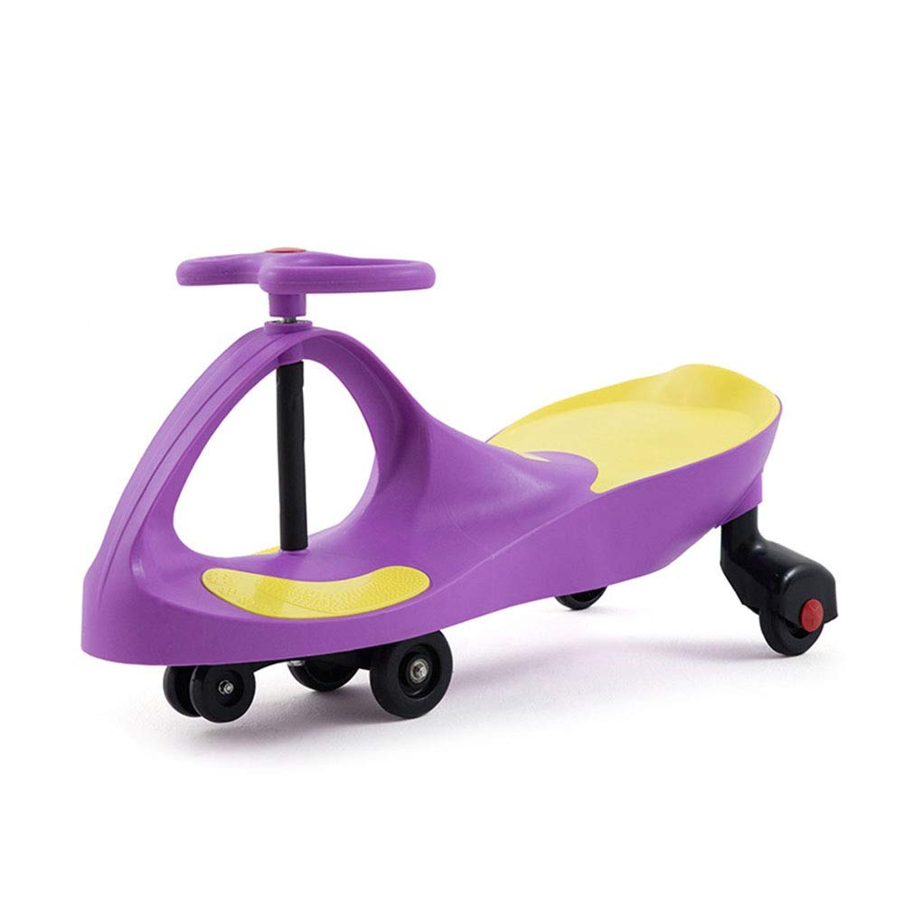Ybriefbag-Toys Wiggle Scooter Car Wiggle Car Fluent Sliding Scooter Ride On Toy for Kids - Boys and Girls The Original Swing Wiggle Car/Bike for Toddlers (Color : Purple, Size : 803341cm)