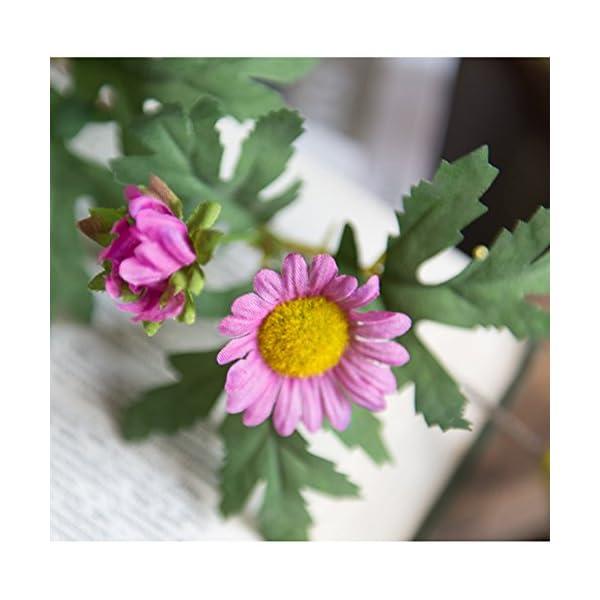 LI HUA CAT Artificial Flower Cherry Blossom Garland Daisy Vines Simulation Plants Hanging Vine Silk Garland Wedding Party Decor 1 Piece (Pink Daisy)