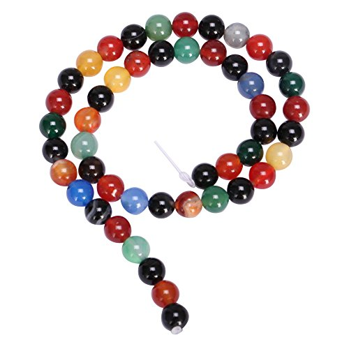 AAA Natural Rainbow Agate 8mm Gemstone Round Loose Stone Beads 15 Inch for Jewelry Craft Making GC3-8