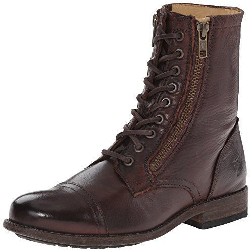 Brown Botas Tyler Dark Mujer Militar Frye Double qC7A1