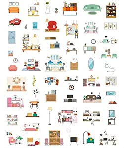 Set of 6 Sheets Washi Paper stickers For DIY Scrapbooking Decoration Gift Wrapping Handcraft Kids Students Offices, 80mm x 160mm x 6 Sheets