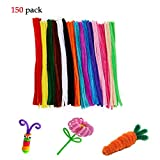 Pipe Cleaners Craft 150 Pcs, Sweeethome Colors Assorted Pipecleaners for Kids DIY Plush Toy Children Handmade Art Chenille Stems 6 mm x 12 Inch (150pcs)