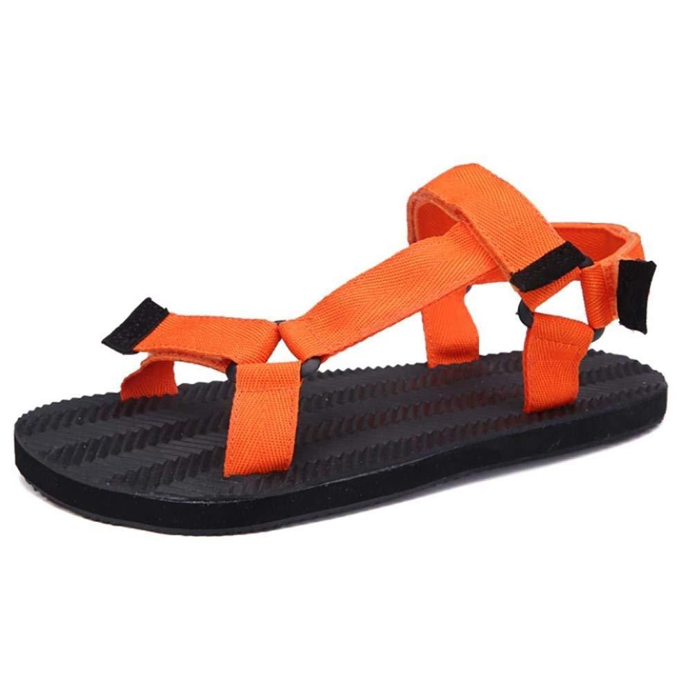 Unisex Hausschuhe & Flip-Flops Sommer Casual flachem Absatz die andere Schwarz Blau Orange zu Fuß (Farbe   Orange Größe   41)
