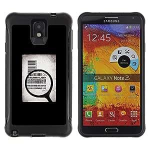 All-Round híbrido Heavy Duty de goma duro caso cubierta protectora Accesorio Generación-II BY RAYDREAMMM - Samsung Galaxy Note 3 - Money Body Sell Symbolic Art Quote