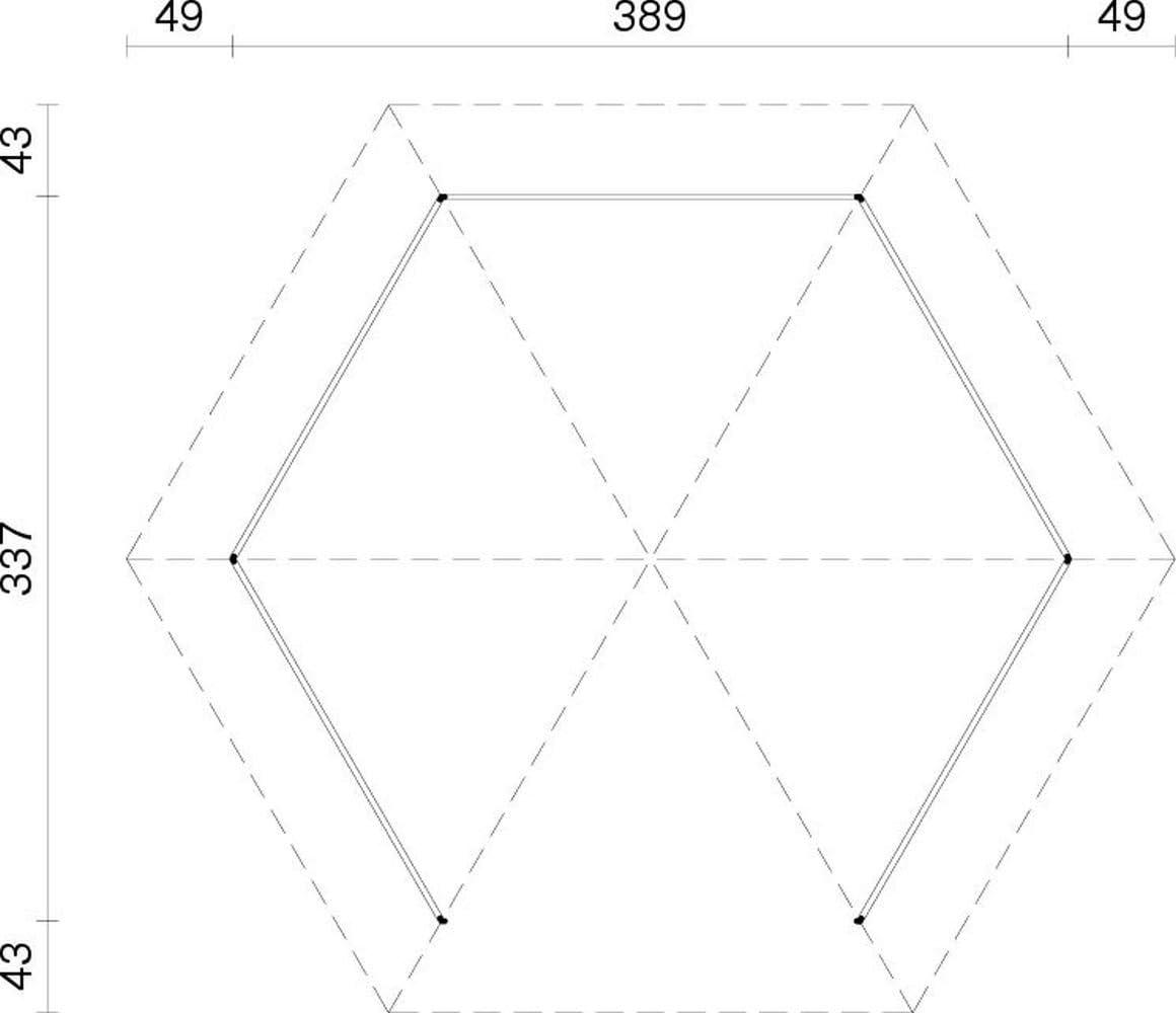 Carpa Sorbus S13 natural, 120 x 120 mm de grosor, superficie de 9 ...