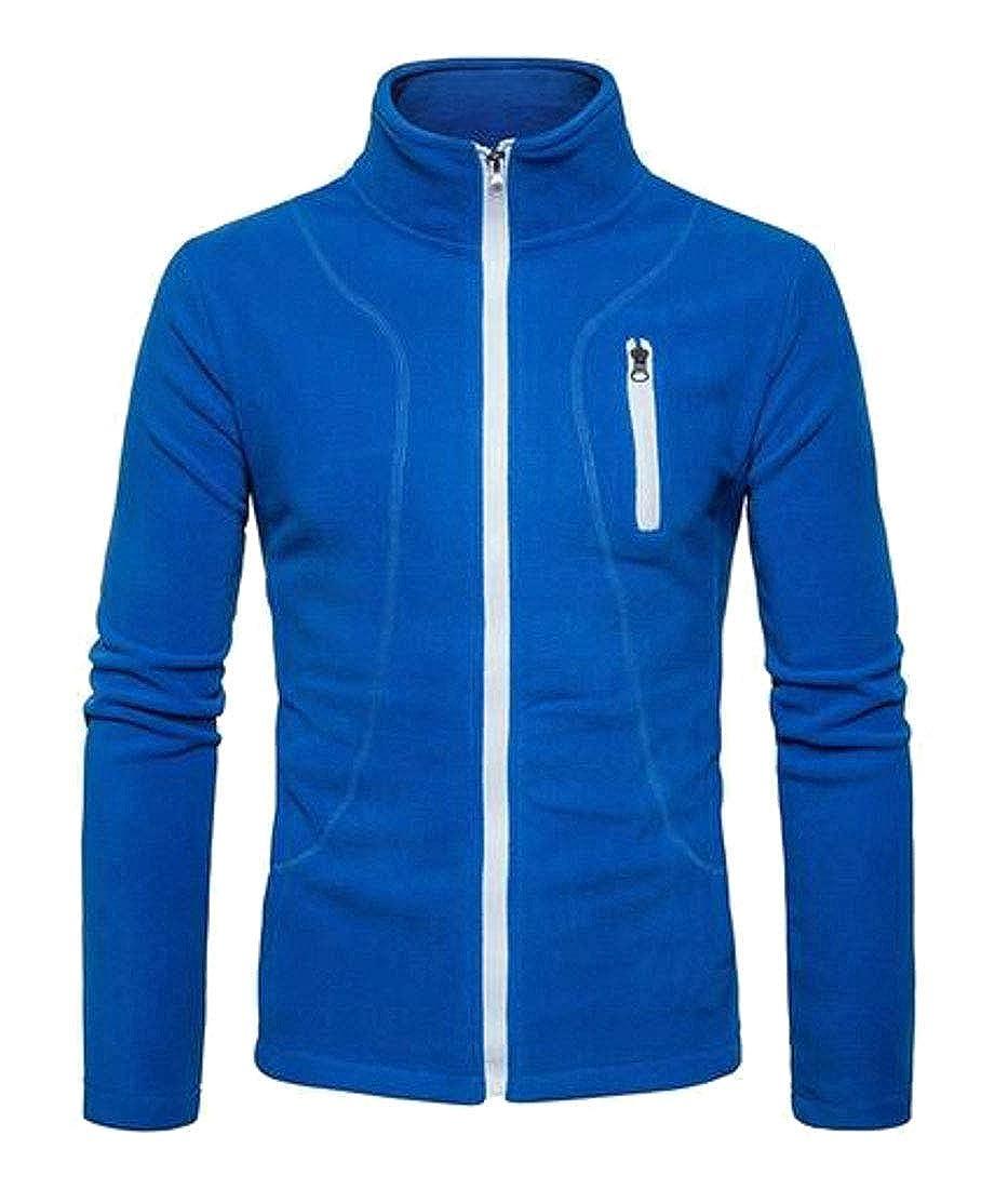 XTX Men's Zip up Warm Slim Winter Polar Fleece Sweatshirt Jacket Coat Outerwear