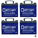 Mighty Max Battery 12V 35Ah Gel Battery Replacement for Kangaroo TG-31 Golf Cart - 4 Pack Brand Product