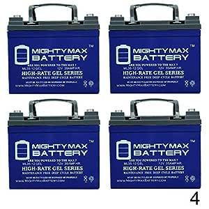 12 V 35 Ah Gel batería para Invacare Dart Jaguar conejo - 4 ...