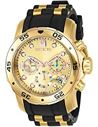 Men's 17884 Pro Diver 18k Gold Ion-Plated Stainless Steel Chronograph Watch