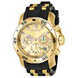 Image of Invicta Men's 17884 Pro Diver 18k Gold Ion-Plated Stainless Steel Chronograph Watch