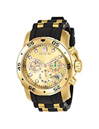 Invicta Men's 17884 Pro Diver Analog Display Swiss Quartz Black Watch