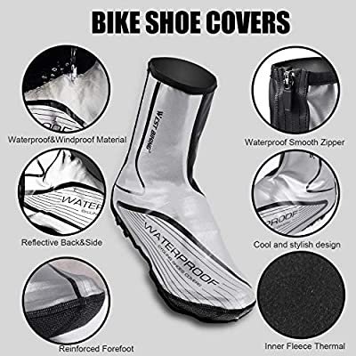 Windproof Warm Bike Cycling Shoes Cover Protector Overshoes for Men Women Q